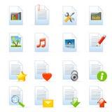 Iconos de documento Fotos de archivo libres de regalías