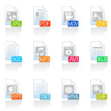 Iconos de documento Imagen de archivo libre de regalías
