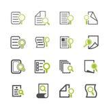 Iconos de documento Foto de archivo