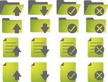 Iconos de documento Foto de archivo libre de regalías