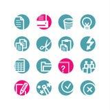 Iconos de documento del círculo Libre Illustration