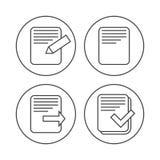 Iconos de documento del fichero Foto de archivo libre de regalías
