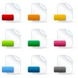 Iconos de documento en blanco del fichero Fotografía de archivo libre de regalías