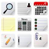 Iconos de documento para el Web site Imagen de archivo libre de regalías