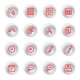 Iconos de documento rojos Libre Illustration