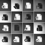 Iconos de documentos fotografía de archivo