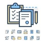Iconos de documentos de negocio stock de ilustración