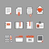 Iconos de documentos de Office Foto de archivo