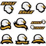 Iconos de Eagle stock de ilustración