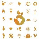 Iconos de Eco Fotos de archivo