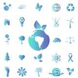 Iconos de Eco Foto de archivo