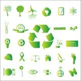 Iconos de Eco Fotografía de archivo