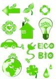 Iconos de Eco stock de ilustración