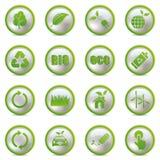 Iconos de Eco fijados Imágenes de archivo libres de regalías