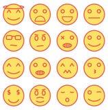 Iconos de Emoji Foto de archivo