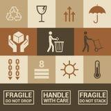 Iconos de empaquetado Foto de archivo libre de regalías