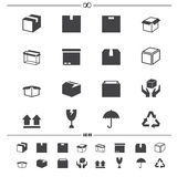 Iconos de empaquetado de las cajas libre illustration