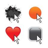 Iconos de encargo del Web Fotografía de archivo