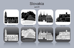 Iconos de Eslovaquia Fotos de archivo libres de regalías