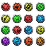 Iconos de espec. de Smarthone fijados Imagen de archivo libre de regalías