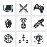 Iconos de ESports fijados Imagen de archivo