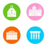 Iconos de Grecia fijados ilustración del vector