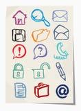 Iconos de Grunge del vector fijados Imagenes de archivo