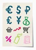 Iconos de Grunge del vector fijados Fotografía de archivo libre de regalías