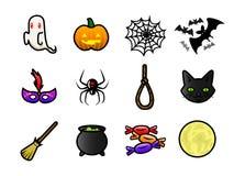 Iconos de Halloween stock de ilustración