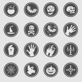 Iconos de Halloween Foto de archivo libre de regalías