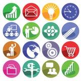 Iconos de Infographic Fotografía de archivo libre de regalías