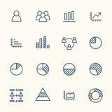 Iconos de Infographics ilustración del vector