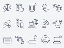 Iconos de Internet Imagen de archivo
