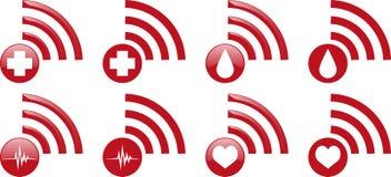 Iconos de Internet de la salud Foto de archivo libre de regalías