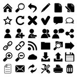 Iconos de Internet del Web Fotografía de archivo