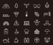 Iconos de invierno ilustración del vector