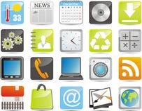 Iconos de IPhone ilustración del vector