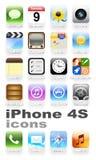 Iconos de IPhone 4S stock de ilustración