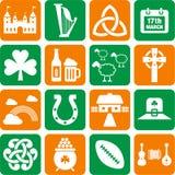 Iconos de Irlanda Foto de archivo libre de regalías