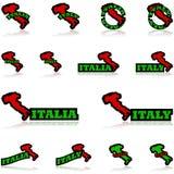 Iconos de Italia ilustración del vector