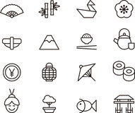 Iconos de Japón Fotos de archivo