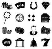 Iconos de juego del casino fijados Imagen de archivo libre de regalías