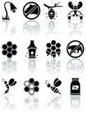 Iconos de la abeja Fotos de archivo libres de regalías