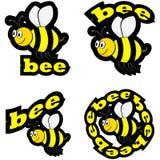Iconos de la abeja ilustración del vector