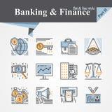 Iconos de la actividad bancaria y de las finanzas Fotos de archivo libres de regalías