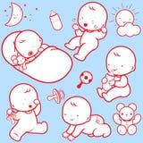 Iconos de la actividad del bebé Fotos de archivo libres de regalías