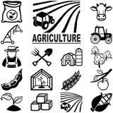 Iconos de la agricultura Imagen de archivo libre de regalías