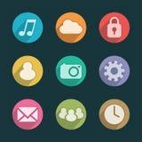 Iconos de la aplicación móvil stock de ilustración