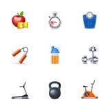 Iconos de la aptitud Fotografía de archivo