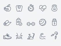 Iconos de la aptitud ilustración del vector